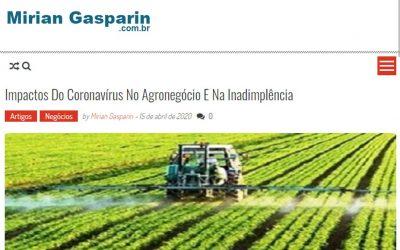 Mirian Gasparin – Impactos Do Coronavírus No Agronegócio E Na Inadimplência