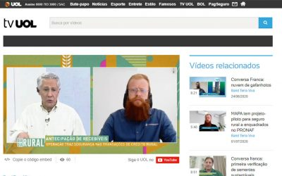Tv Uol – Conversa franca: segurança nas transações de crédito rural