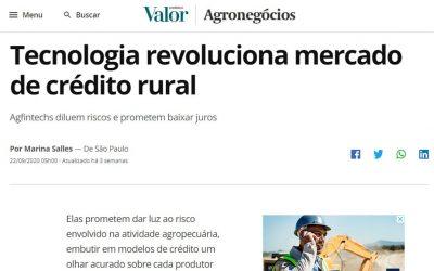 Valor Econômico – Tecnologia revoluciona mercado de crédito rural