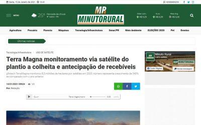 Minuto Rural – TerraMagna: monitoramento via satélite do plantio a colheita e antecipação de recebíveis