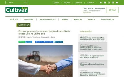 Portal Revista Cultivar – Procura pelo serviço de antecipação de recebíveis cresce 25% no último ano