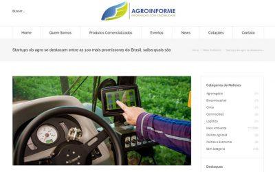 AgroInforme – Startups do agro se destacam entre as 100 mais promissoras do Brasil; saiba quais são