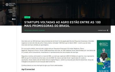Digital Agro – Startups voltadas ao agro estão entre as 100 mais promissoras do Brasil